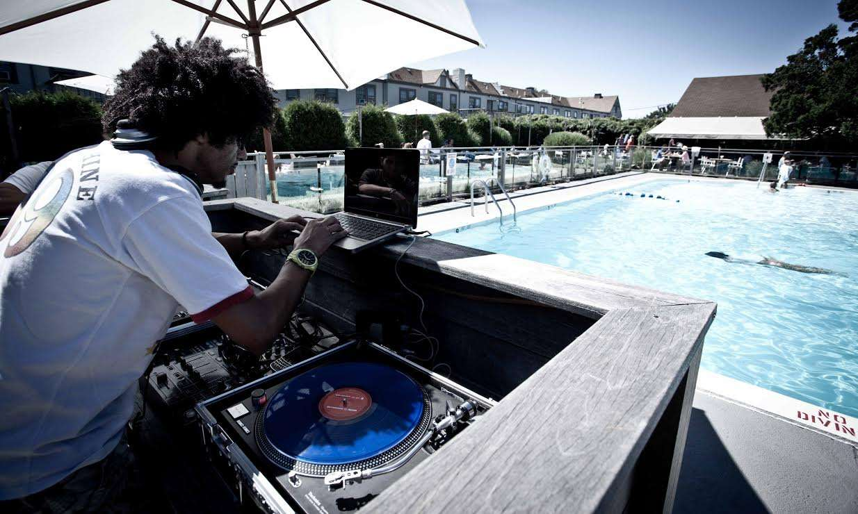 DJ by Pool