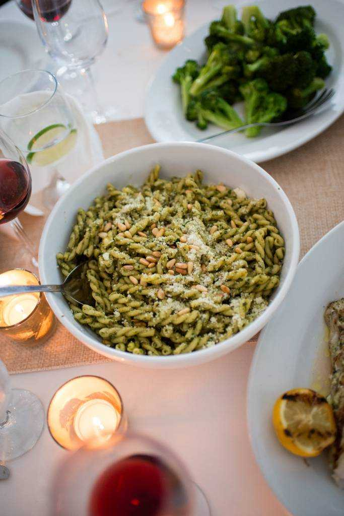 Sole East Wedding Catering/Gemelli Pesto. Photo: Cappy Hotchkiss