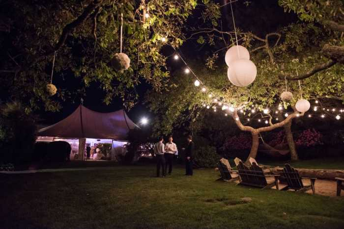 Sole East Wedding. Fire Pit/String Lighting. Photo: JJ Ignotz