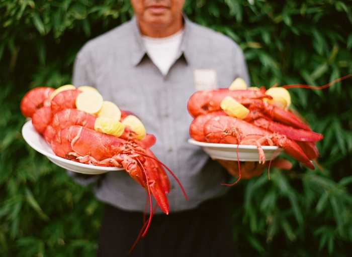 Sole East Wedding Catering/Lobsters/Clambake. Photo: Heather Waraksa