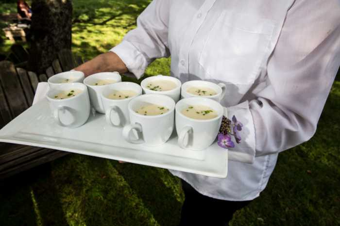 Sole East Wedding Catering/Award Winning Clam Chowder. Photo: JJ Ignotz