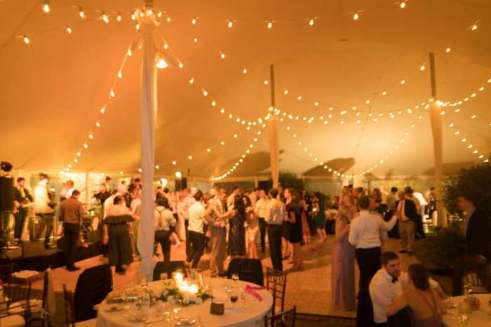 Sole East: Tent Weddings/String Lighting. Photo: James Katsipis